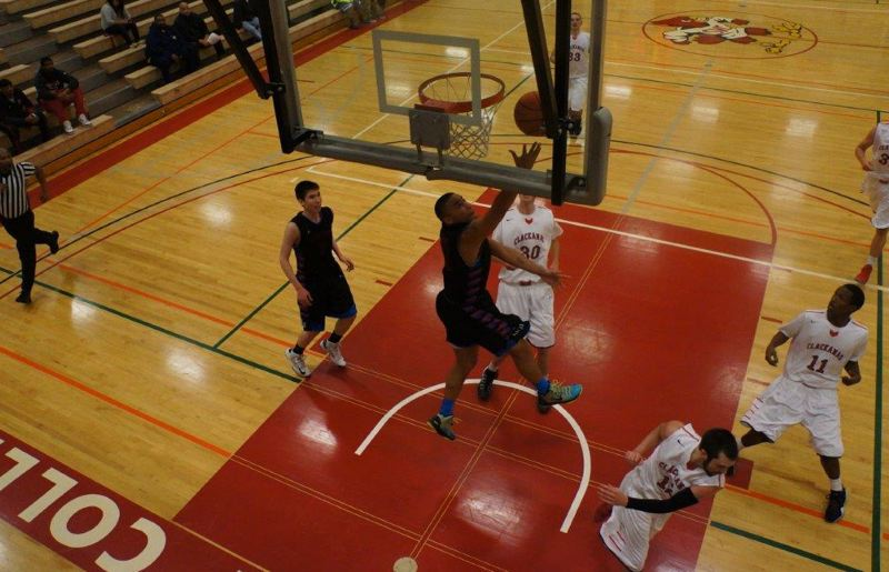by: COURTESY OF NORTHWEST INDIAN COLLEGE - Josh Nelson of Northwest Indian College goes for a reverse layup.