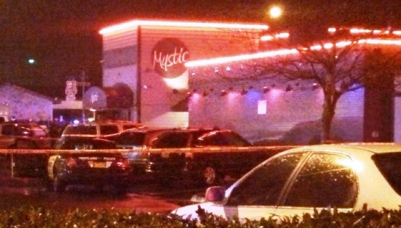 by: KOIN NEWS 6 - Police responded to shooting at Mystic Strip Club, 9950 SE Stark in Portland, overnight (KOIN 6 News)