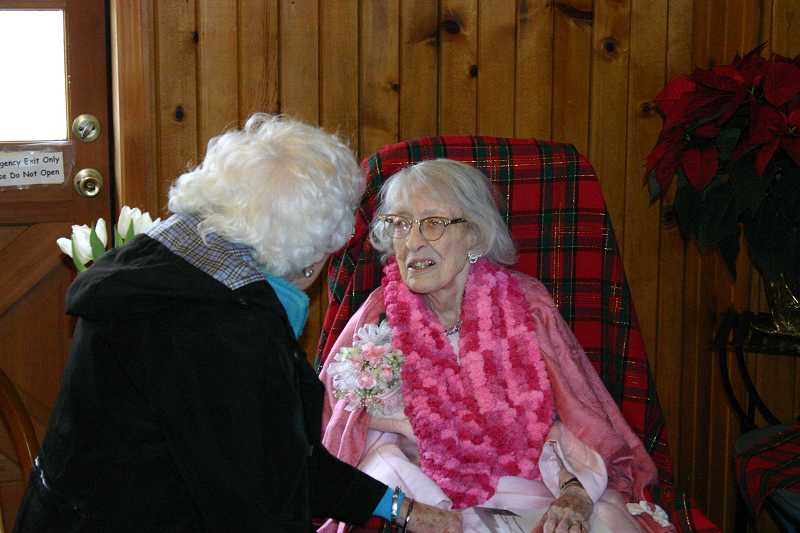 by: JASON CHANEY - Jean Gillis was regularly greeted by well-wishers who attended her 100th birthday party on Saturday afternoon at St. Andrew's Episcopal Church.