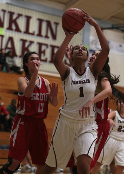 by: TRIBUNE FILE PHOTO: JONATHAN HOUSE - Franklin High's Darshay Williams goes up for a shot in a preseason game against David Douglas.