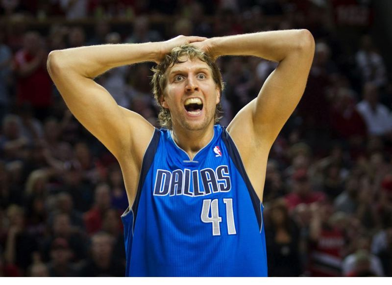 by: TRIBUNE FILE PHOTO: CHRISTOPHER ONSTOTT - Dirk Nowitzki and the Dallas Mavericks play host to the Trail Blazers on Saturday night.