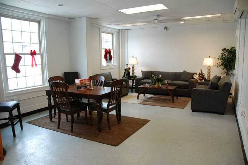 by: SUBMITTED PHOTO - Portland Rescue Missions new day room was completed just in time for the holidays, thanks to the Home Builders Foundation and Key Home Furnishings.