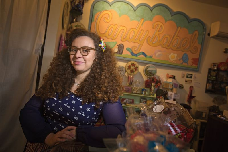 by: PAMPLIN MEDIA GROUP: JONATHAN HOUSE - Candy Babel owner Amani Greer imports most of her candy from Europe to ensure that it doesnt include any GMOs.