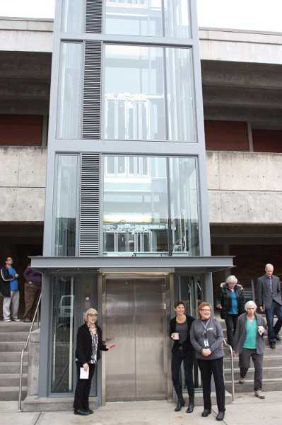 by: SUBMITTED PHOTO - A new elevator has been added to the CC building at the Portland Community College-Sylvania campus.