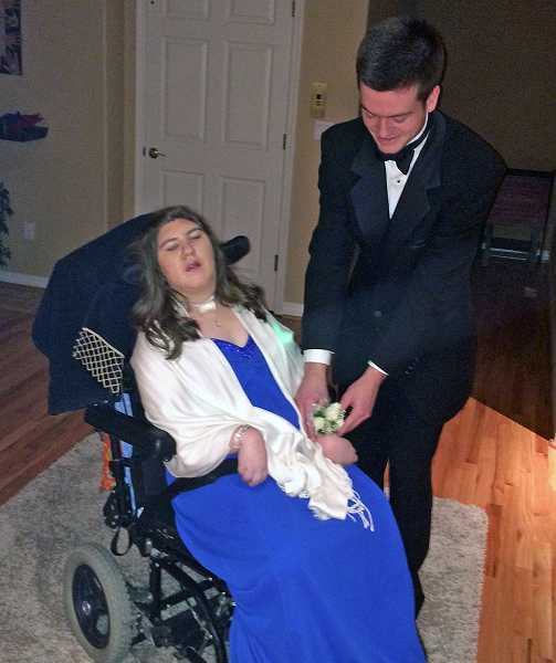 by: SUBMITTED PHOTO - Stephanie Blizzard and Bryce Anderson attended the MORP dance Saturday. MORP is prom spelled backward.