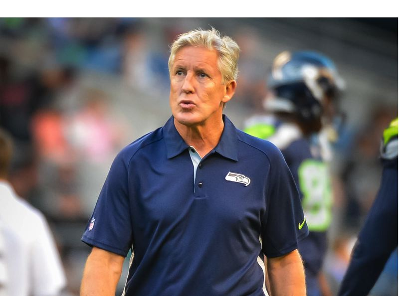 by: COURTESY OF MICHAEL WORKMAN - Seattle coach Pete Carroll says it will be a great challenge to go up against Denver QB Peyton Manning in the Feb. 2 Super Bowl.