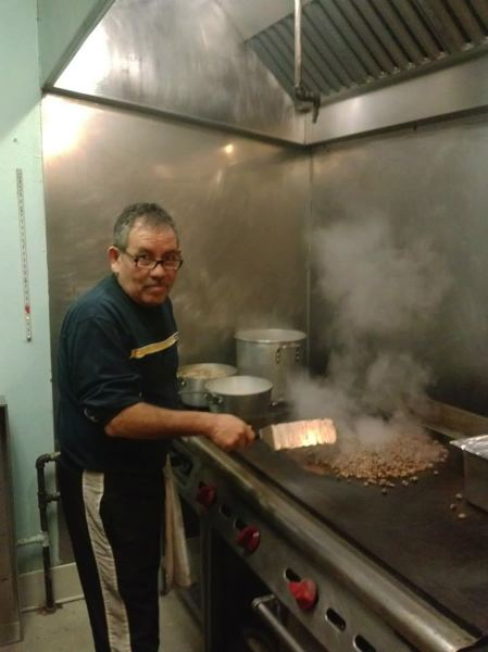 by: SUBMITTED PHOTO - Arturo Covarrubias, aka Don Pepe, mans the grill at his family's new Mexican restaurant in downtown Oregon City.