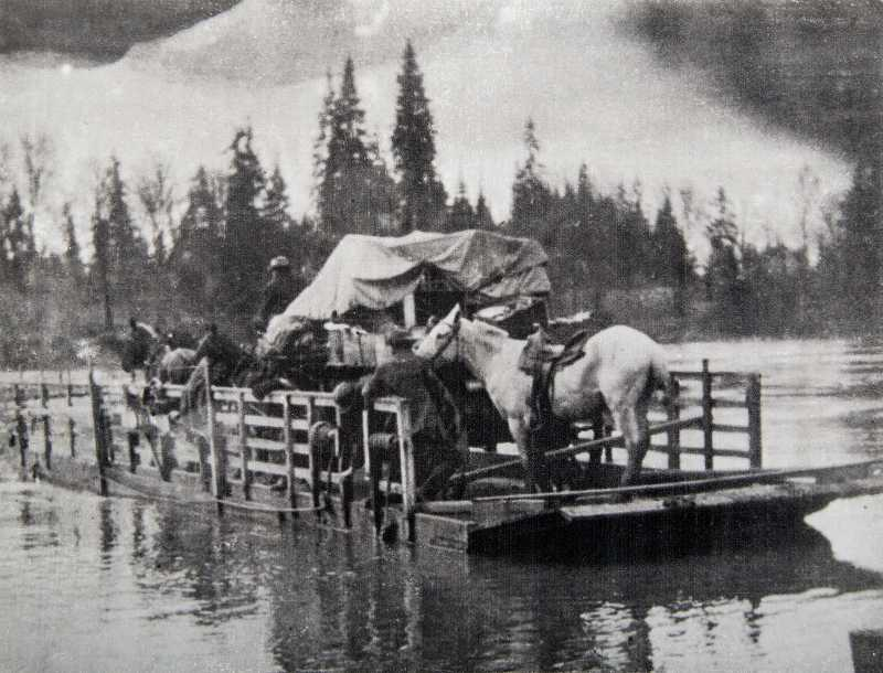 The first Canby Ferry.