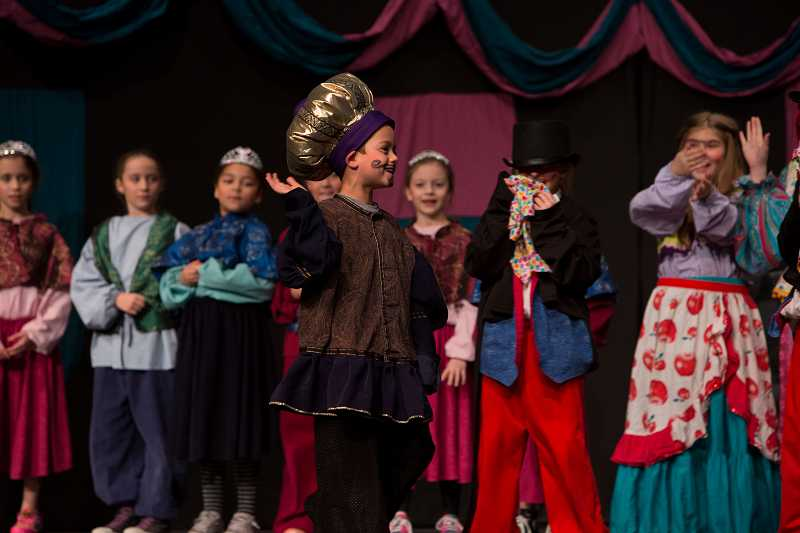 by: SUBMITTED PHOTO: LIONEL COLEMAN - Bryce Hidalgo starred as king of the realm, a huge, plush crown perched atop his head.
