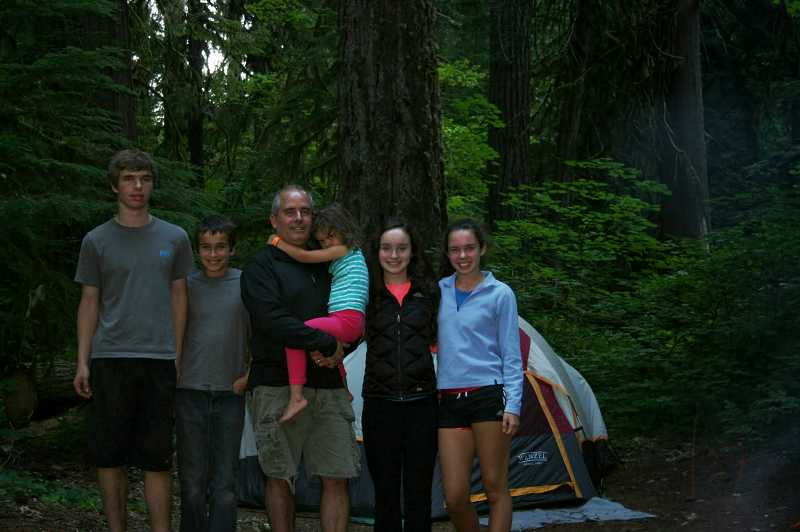 by: SUBMITTED PHOTO - The Larkin family enjoys the great outdoors, and the five siblings pictured are, from left, Brian, Nolan, Emmeline (in the arms of her father, Tom), Suzanna and Megan.