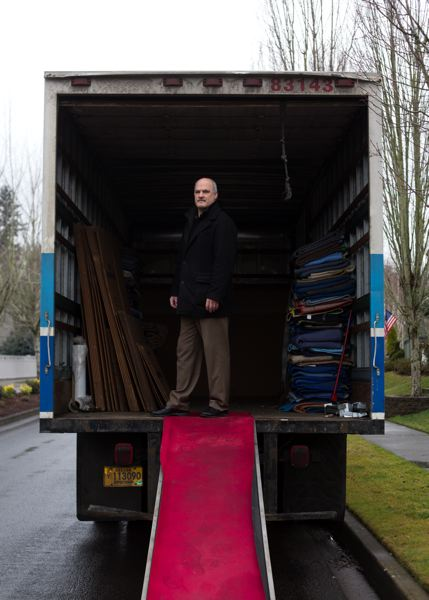 by: TRIBUNE PHOTO: JONATHAN HOUSE - Bluebird Transfer owner Wade McLaren has seen an increase in his business since people started moving into Oregon during the past few months. Oregon added 30,000 new residents last year.
