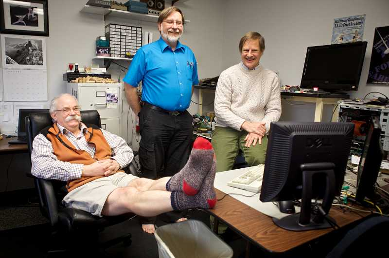 by: TIMES PHOTO: JAIME VALDEZ - Lee Boelkelheide, Tim Roberts and John Providenza have run Providenza & Boelkelheide for 20 years this week. The technology consulting firm has worked on several projects, fixing problems Fortune 500 companies cant figure out.