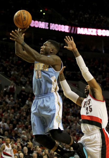 Nate Robinson puts up a jumper for Denver.
