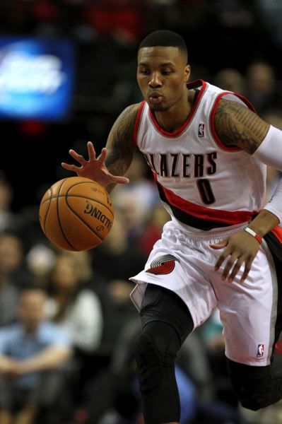 Damian Lillard steals the ball.