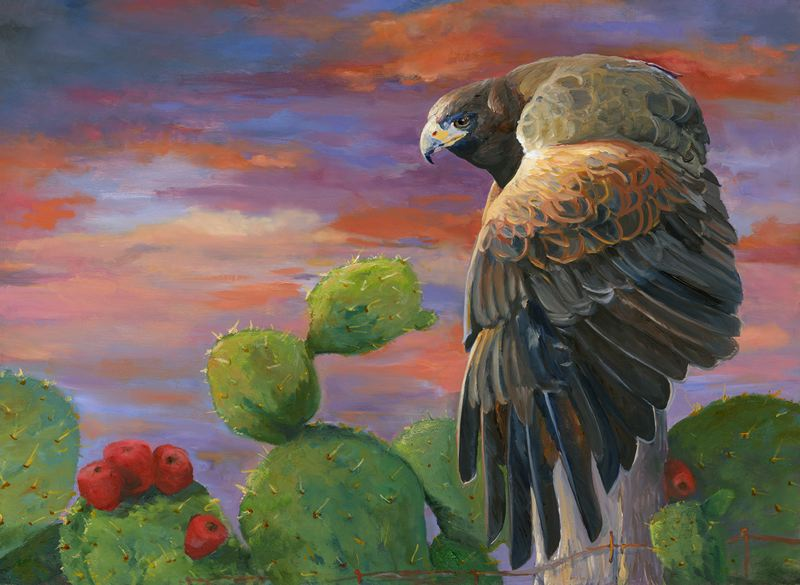 by: COURTESY IMAGE - Successful Hunt, one of Royce Kuglers oil paintings currently on display at Sequoia Gallery + Studios in Hillsboro.