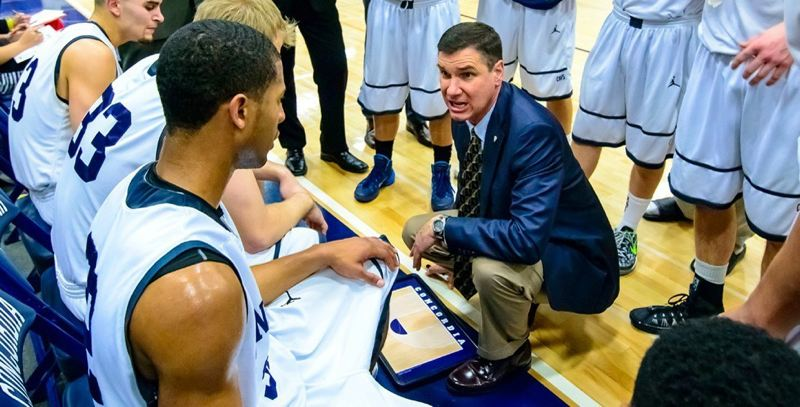 by: COURTESY OF CONCORDIA UNIVERSITY - Brad Barbarick, Concordia 19th-year men's basketball coach, picked up his 300th career victory, versus 314 losses, as the Cavaliers toppled Warner Pacific on Saturday.