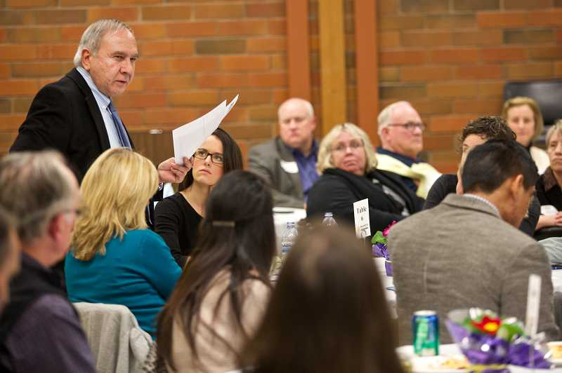 by: TIMES PHOTO: JAIME VALDEZ - State Rep. Joe Gallegos tells Washington County school district leaders they can count on Gain Share funding in the future.