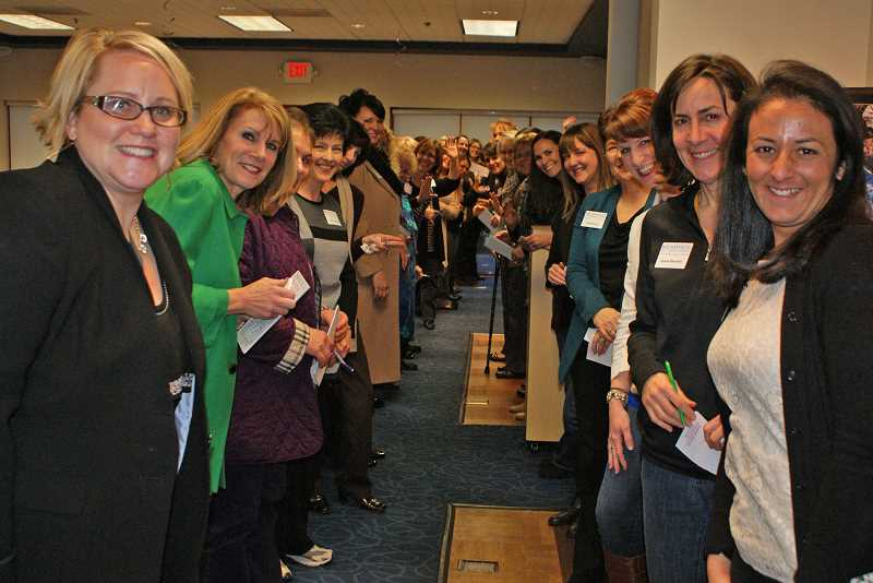 by: SUBMITTED PHOTO: WILSONVILLE AREA CHAMBER OF COMMERCE - Forty businesswomen recently gathered in Wilsonville to network, learn and celebrate women in business as part of the Wilsonville Area Chamber of Commerces new networking group, the Women's Business Council.