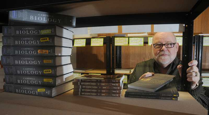 by: GARY ALLEN - Changing market - At George Fox University, book rentals are becoming increasingly popular. John Stewart, bookstore manager, said he thinks eventually the majority of students will rent in lieu of purchasing textbooks.