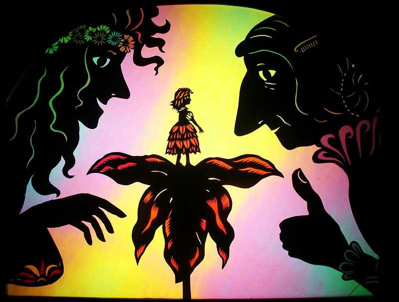 by: COURTESY PHOTO - The Oregon Shadow Puppet Theatre will perform Thumbelina tonight at the Forest Grove Library at 7 p.m.