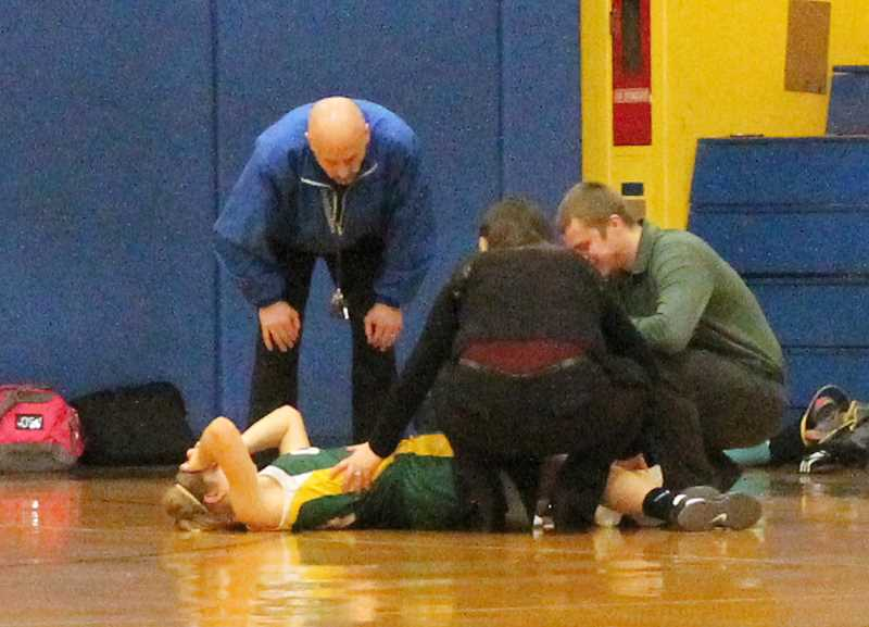 by: CORY MIMMS - Caitlyn Weinberger sprained her ankle late in the second half.
