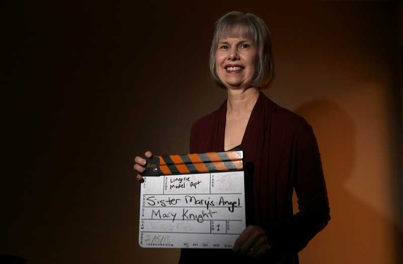 by: TIMES PHOTO: JONATHAN HOUSE - Mary Knight self financed her movie Sister Marys Angel, about two sisters, one who is a nun and the other a lingerie model.