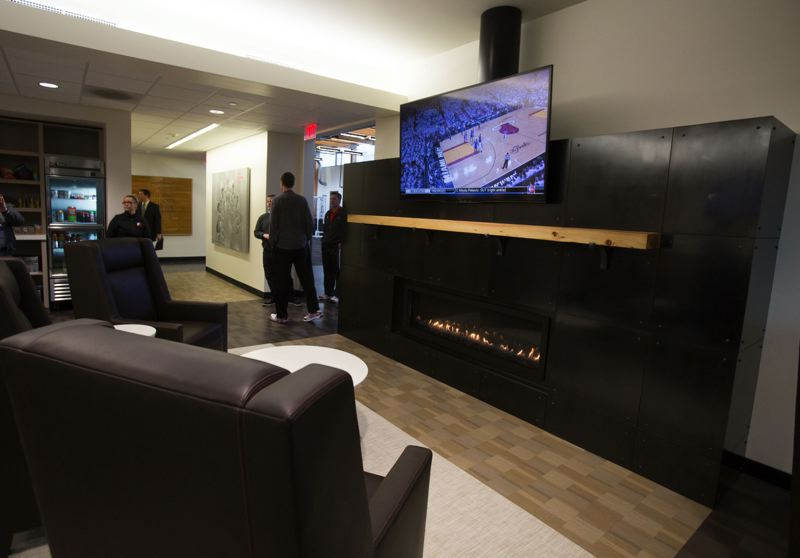 by: TRIBUNE PHOTO: JONATHAN HOUSE - The revamped dining room at the Trail Blazers' practice facility.