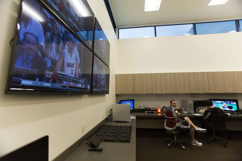 by: TRIBUNE PHOTO: JONATHAN HOUSE - The new film room has high ceilings.