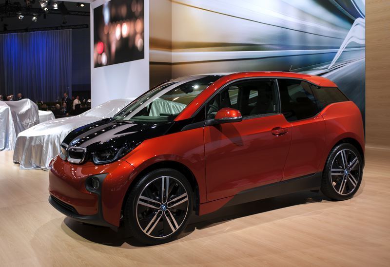 by: CONTRIBUTED PHOTO - Test drives of the new all-electric BMW i3 will be offered inside the Oregon Convention Center during the 2014 Portland International Auto Show.