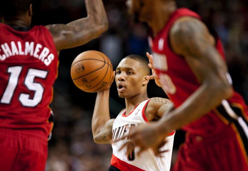by: TRIBUNE FILE PHOTO - DAMIAN LILLARD
