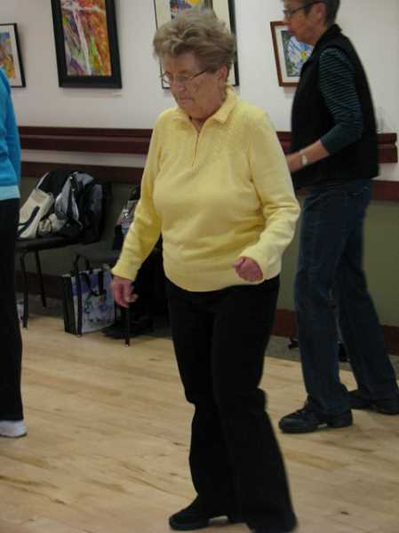 by: SUBMITTED PHOTO - Delores Heard line dances her way to better health.