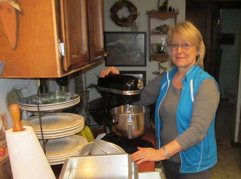 by: BARBARA SHERMAN - THEY ALL START HERE - Sandi Nelson would be lost without her trusty mixer where she starts mixing ingredients that turn into amazing cakes and cookies.