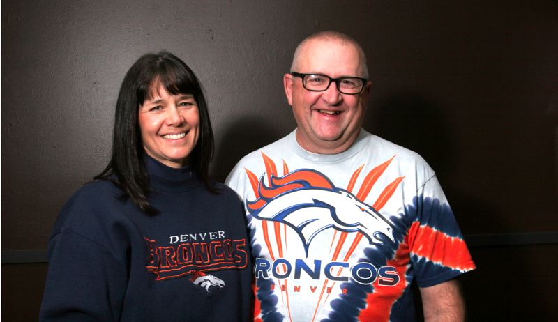 by: THE OUTLOOK: JIM CLARK - Sherry and Eric Gustafson had their first official date at Mile High Stadium in 1983. They are still cheering for the Broncos 30 years later.