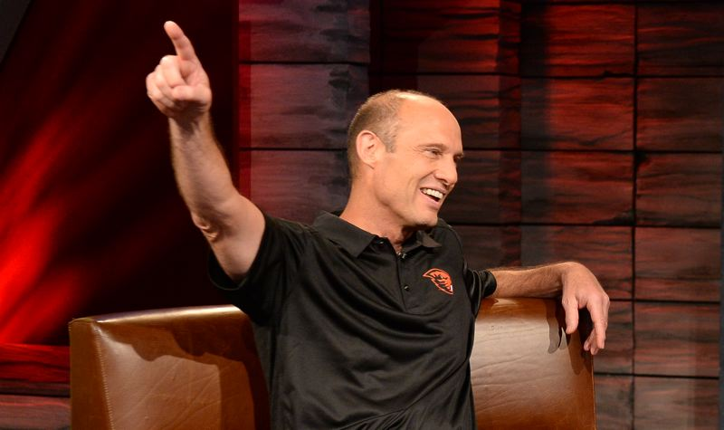 by: COURTESY OF ESPN - Oregon State coach Mike Riley has a busy off-season already under way.