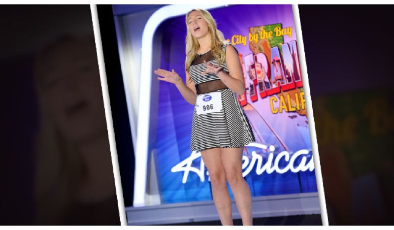 by: PHOTO COURTESY OF AMERICANIDOL.COM - Johnson performs 'Something's Got a Hold On Me' at her audition in San Francisco.