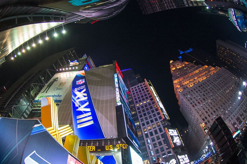 Times Square on Saturday night.