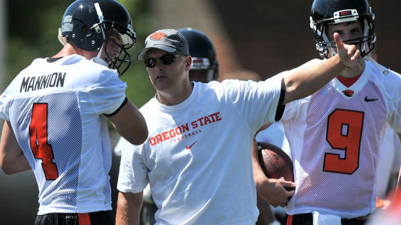 by: COURTESY OF SCOBEL WIGGINS - Danny Langsdorf says leaving as Oregon State offensive coordinator to coach the New York Giants quarterbacks wasn't an easy decision.