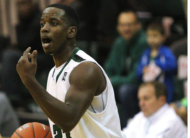 by: COURTESY OF PORTLAND STATE UNIVERSITY - DaShaun Wiggins was one of Portland State's key scorers Saturday night as the Vikings held off North Dakota at Stott Center.
