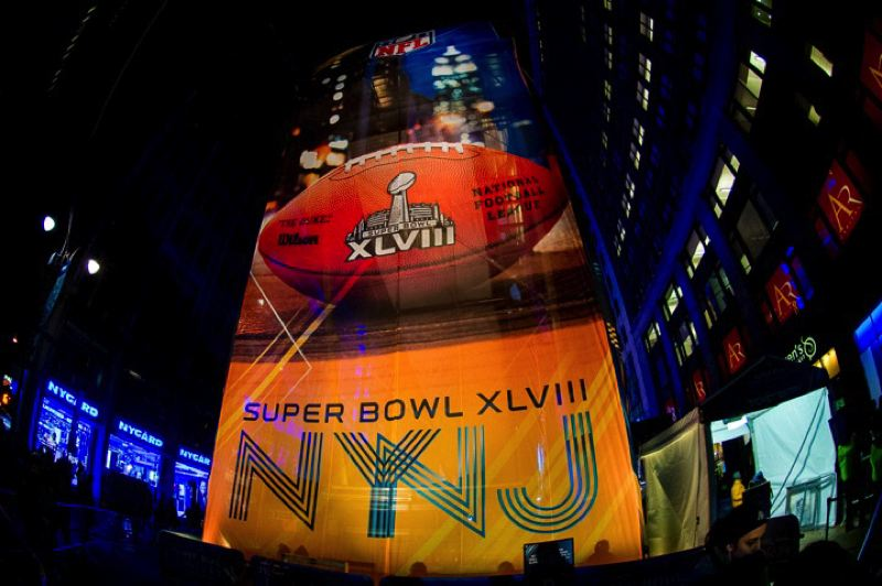 The Super Bowl gets a New York/New Jersey plug.