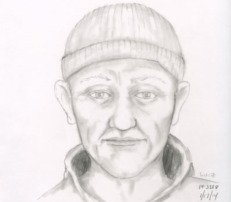by: PORTLAND POLICE BUREAU - Portland police recently released this sketch of the man suspected of impersonating an officer and searching a woman's car.