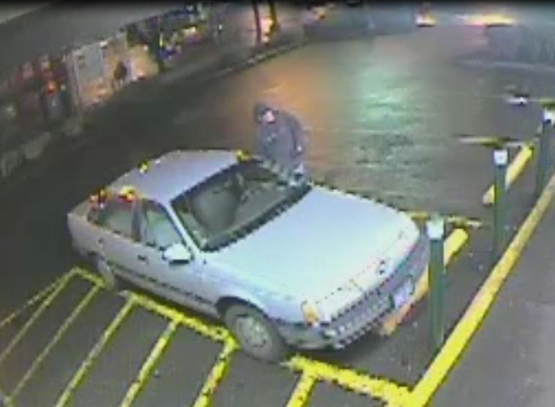 by: PORTLAND POLICE BUREAU - Police suspect that the impersonator fled the scene in this vehicle.