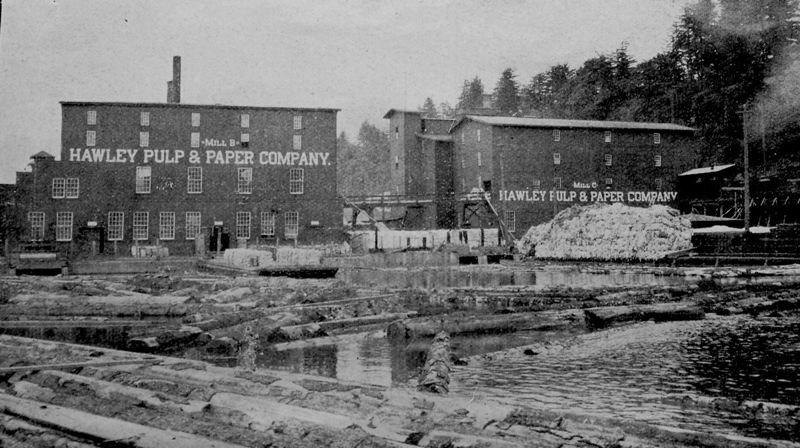 by: CLACKAMAS COUNTY HISTORICAL SOCIETY - This 1885 photo of the Imperial Mills comes out of a 1916 Oregon City directory and shows a section of the Hawley pulp and paper mills.