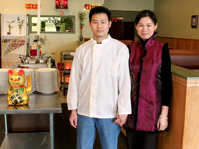 by: CORY MIMMS - Jing Lui and Christy Wu, owners of Lui's Palace, which opened last month on North Molalla Avenue in the location where Jade Asian Bistro used to be