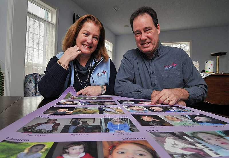 by: TIDINGS PHOTO: VERN UYETAKE - Teryn and Dean Suhr started the MLD Foundation in 1995, shortly after two of their daughters were diagnosed with the rare genetic disease.