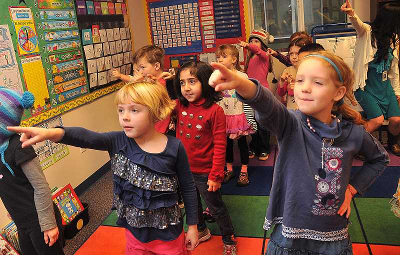 by: VERN UYETAKE - Spanish immersion kindergarten teacher Raquel Vasquez said immersion programs aid brain development.