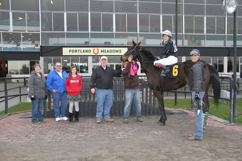 by: COURTESY OF ARLYN MALDONADO - Eliska Kubinova, 25, wound up in the winners circle at Portland Meadows 55 times this season, more often than any other jockey.