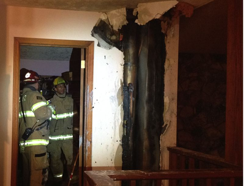 by: WASHINGTON COUNTY FIRE DISTRICT 2 - A flue fire resulted in the residents of this Helvetia home being forced to find shelter elsewhere.