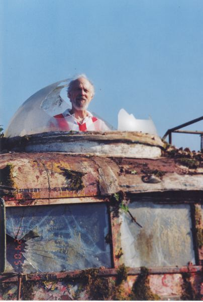 by: PHOTO COURTESY OF GEORGE WALKER - George Walker sticks his head out of a dome he and the Merry Band of Pranksters made to look out of the bus,'Further,' in which they took a drug-fueled tour of the United States in 1964. The tour sparked a cultural shift still present today.