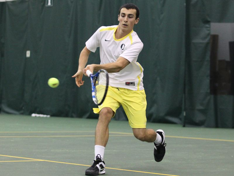 by: COURTESY OF UNIVERSITY OF OREGON - The United States Tennis Association has awarded a $20,000 grant to help renovate two courts at Berkeley Park in Southeast Portland, where the late Alex Rovello, a Cleveland High and University of Oregon star, learned to play the game.