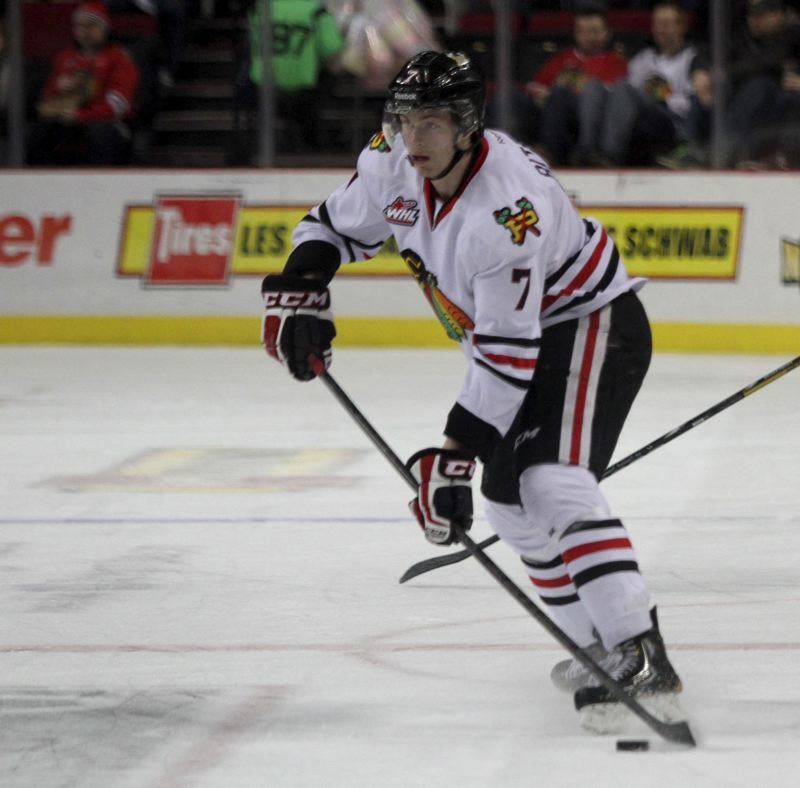 by: TRIBUNE FILE PHOTO: JONATHAN HOUSE - Chase De Leo led the Portland Winterhawks with five points as they won at Prince Georege 8-4 on Monday.